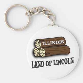 Illinois logs of Lincoln Key Ring