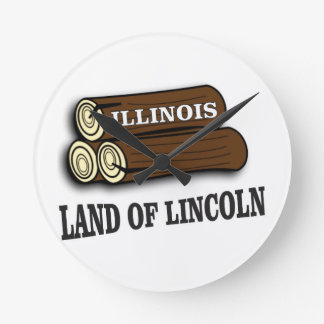 Illinois logs of Lincoln Round Clock