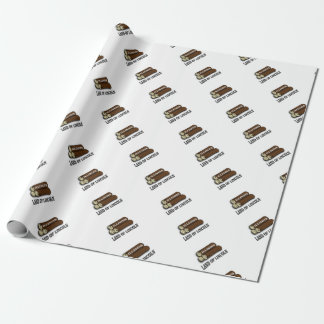 Illinois logs of Lincoln Wrapping Paper