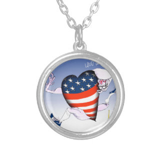 illinois loud and proud, tony fernandes silver plated necklace