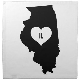Illinois Love Napkin