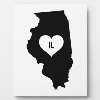 Illinois Love Plaque