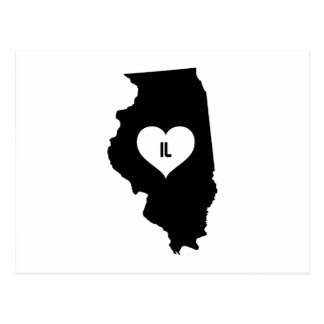 Illinois Love Postcard