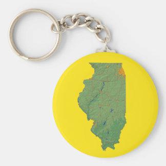 Illinois Map Keychain