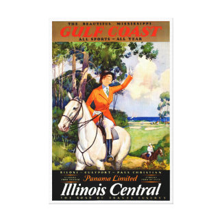 Illinois Mississippi Restored Vintage Poster Canvas Print