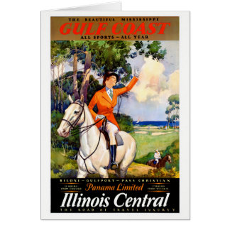Illinois Mississippi Restored Vintage Poster Card