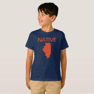 Illinois Native Navy Orange T-Shirt