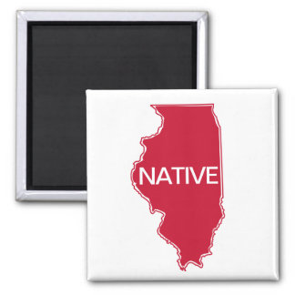 Illinois Native Red White Magnet