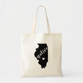 Illinois Native State Tote Bag