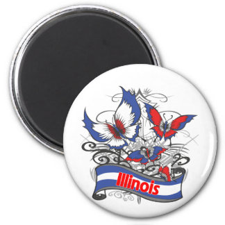 Illinois Patriotism Butterfly Fridge Magnet