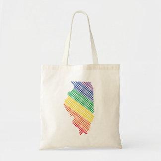Illinois Rainbow State Tote Bag
