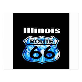 Illinois Route 66 Postcard