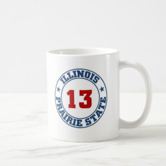 Illinois State Basic White Mug
