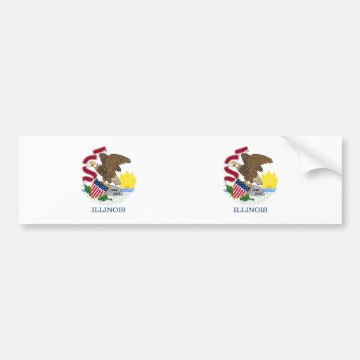 Illinois State flag Bumper Stickers