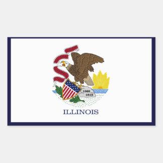 Illinois State Flag Sticker