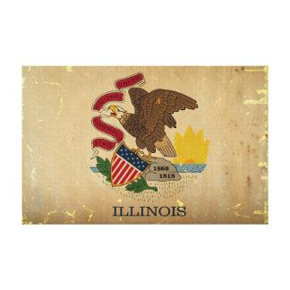 Illinois State Flag VINTAGE.png Canvas Print
