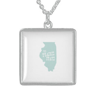 Illinois State Motto Slogan Sterling Silver Necklace
