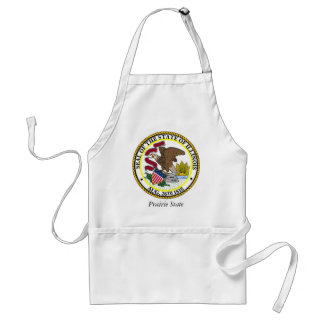 Illinois State Seal and Motto Standard Apron