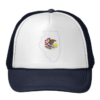 Illinoise State Flag and Map Hat