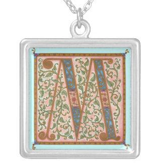 Illuminata *M* Monogrammed Silver-Plated Necklace