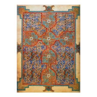 Illuminated Carpet Page Poster