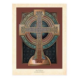Illuminated Celtic Cross Postcard