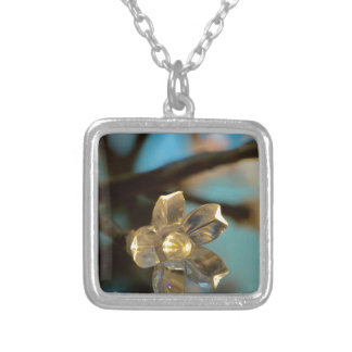 Illuminated Cherry Blossom Silver Plated Necklace