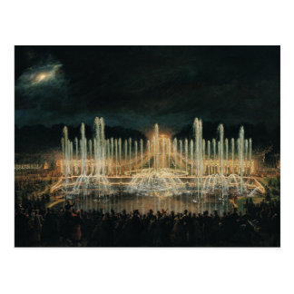 Illuminated Fountain Display Postcard