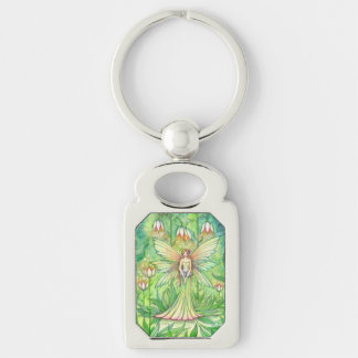 Illuminated Garden Flower Fairy Art Key Ring