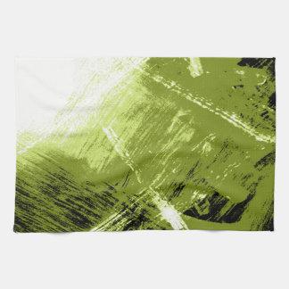 Illuminated Green Abstraction Tea Towel