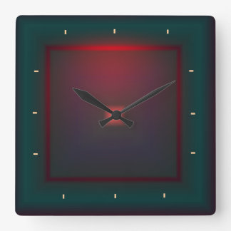 Illuminated Green and Red>Wall clock
