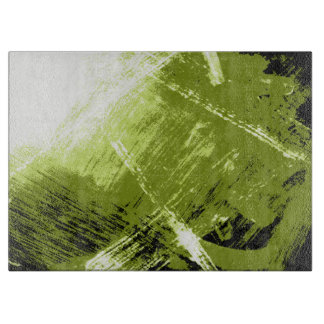 Illuminated Intensive Green Abstraction Cutting Board