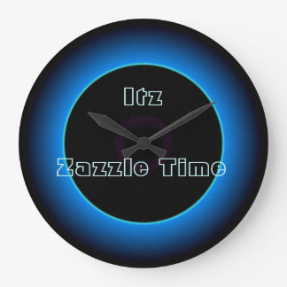 "Illuminated ""Itz Zazzle Time"" Text >Wall Clocks"
