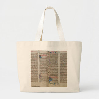 Illuminated Manuscript Page 10 Large Tote Bag