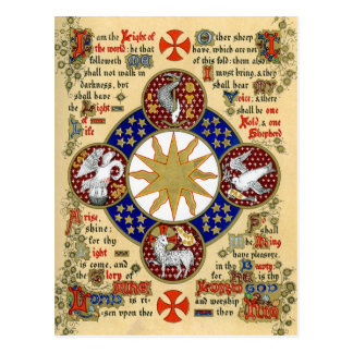 Illuminated Manuscript the Epiphany Postcard
