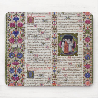 Illuminated page from the Book of Psalms Mouse Pad