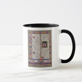 Illuminated page from the Book of Psalms Mug