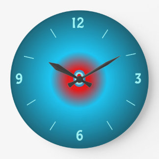 Illuminated Sea green/ Red> Wall Clock