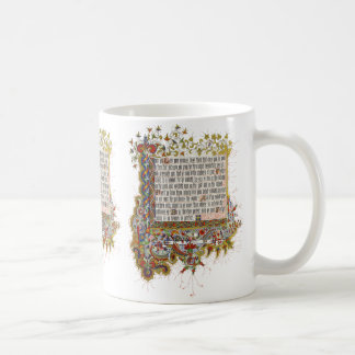 Illuminated Sermon on the Mount: Love Your Enemies Coffee Mug
