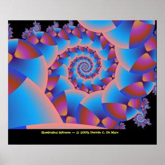 Illuminated Spheres Poster