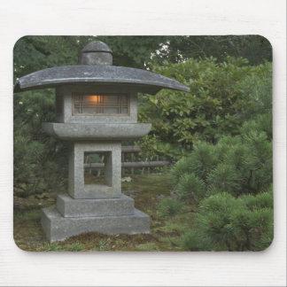 Illuminated stone lantern in Japanese Garden Mouse Pad