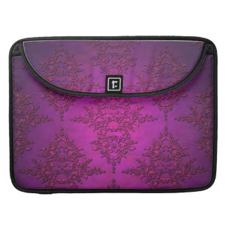 Illuminated Vibrant PInk Magneta Damask Sleeve For MacBook Pro