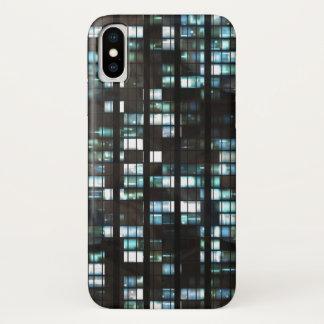 Illuminated windows pattern iPhone x case