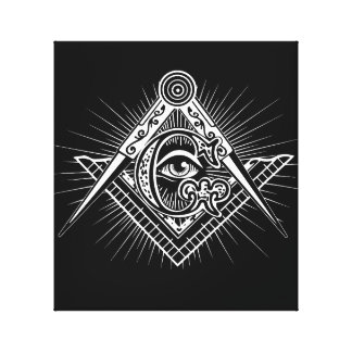 Illuminati All Seeing Eye Freemason Symbol Canvas Print