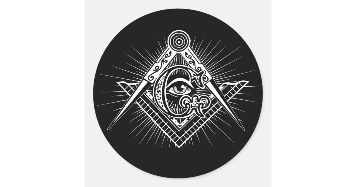 Illuminati All Seeing Eye Freemason Symbol Classic Round Sticker