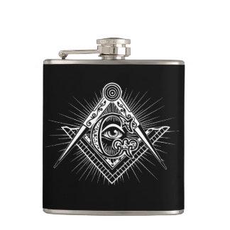 Illuminati All Seeing Eye Freemason Symbol Hip Flask