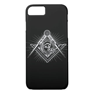 Illuminati All Seeing Eye Freemason Symbol iPhone 8/7 Case