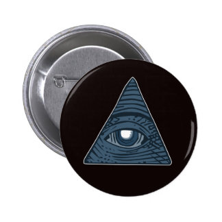 Illuminati All Seeing Eye Pyramid Symbol 6 Cm Round Badge