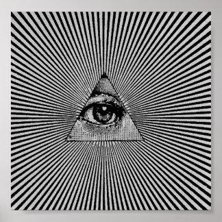 Illuminati All Seeing Eye Trance Poster Sleep