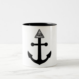 Illuminati Anchor Two-Tone Coffee Mug